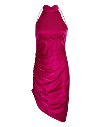 Sydney Silk Halter Dress, PINK, hi-res