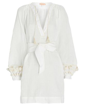 Tapestry of Dreams Embroidered Mini Dress, IVORY, hi-res