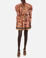Naima Printed Puff Sleeve Dress, MULTI, hi-res