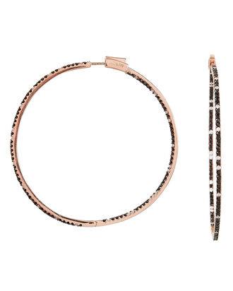 Evie Slim Hoop Earrings, ROSE GOLD/CRYSTAL, hi-res