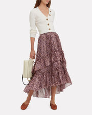 Maria Maxi Skirt, BROWN, hi-res