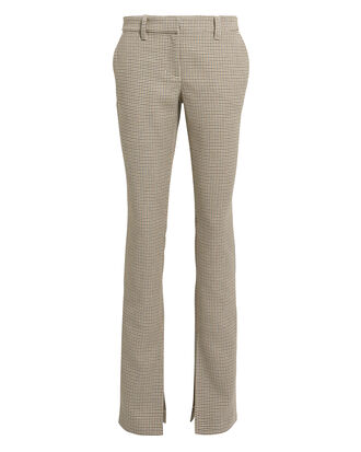 Javier Houndstooth Trousers, BEIGE HOUNDSTOOTH, hi-res