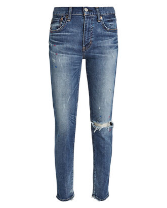 Coronado Distressed Skinny Jeans, DENIM-DRK, hi-res