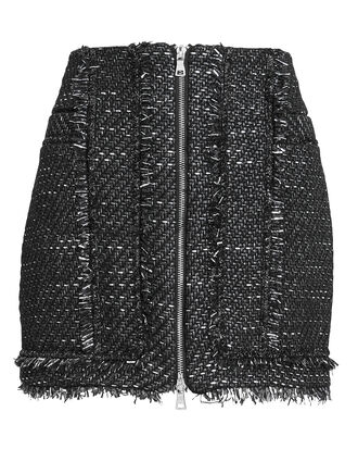 Sparkle Bouclé Mini Skirt, BLACK/SILVER, hi-res