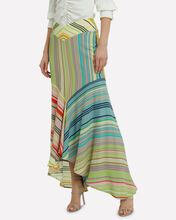 Beverly Silk Striped Mermaid Skirt, RAINBOW/STRIPE, hi-res