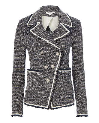 Carroll Bouclé Knit Jacket, GREY, hi-res
