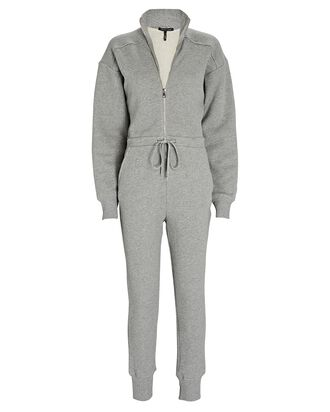 Red-Eye French Terry Jumpsuit, GREY, hi-res