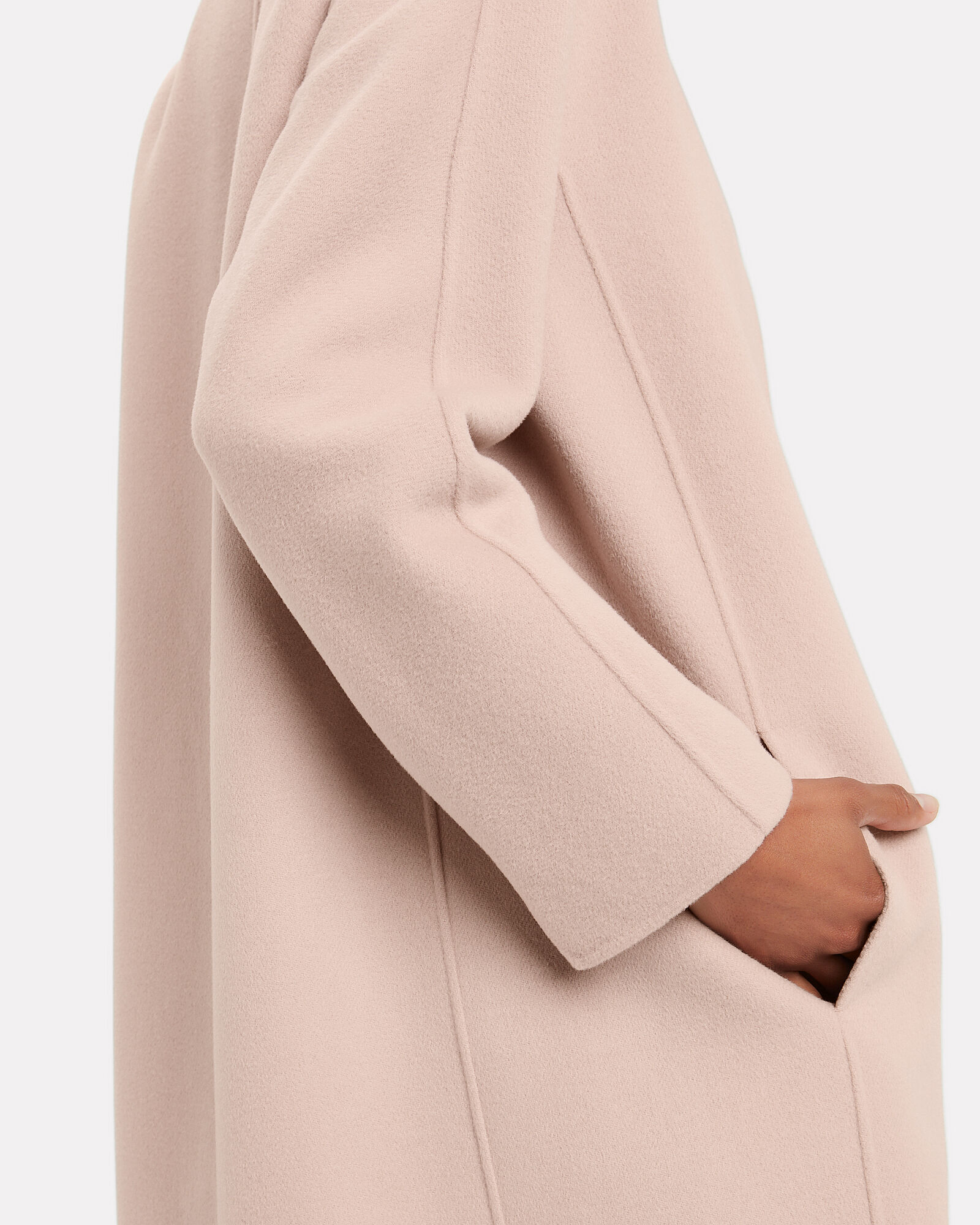 Doraci Belted Wool Coat, BLUSH, hi-res