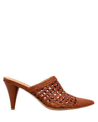 Jaqlyn Basket Weave Mules, DESERT RED, hi-res