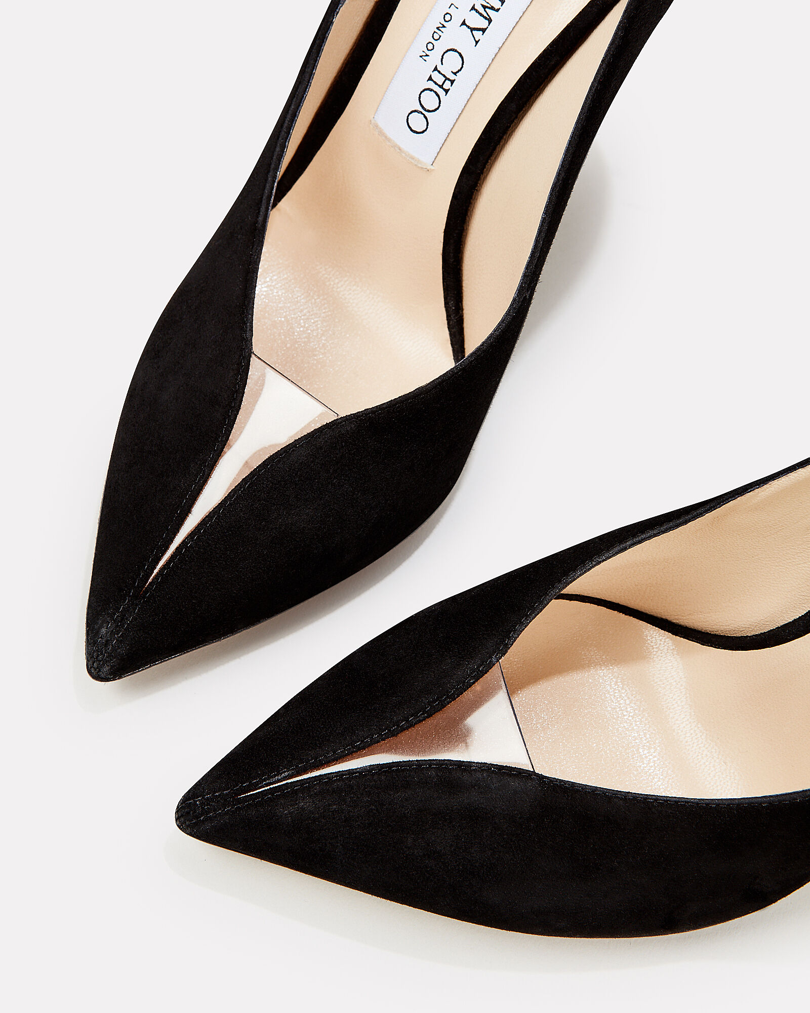 Baker Black Suede Pumps, BLACK, hi-res