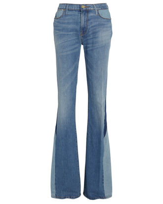 Le High Flare Blocked Jeans, LIGHT WASH DENIM, hi-res