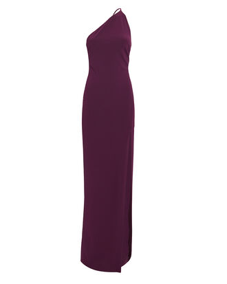 Petch Aubergine Gown, PURPLE, hi-res