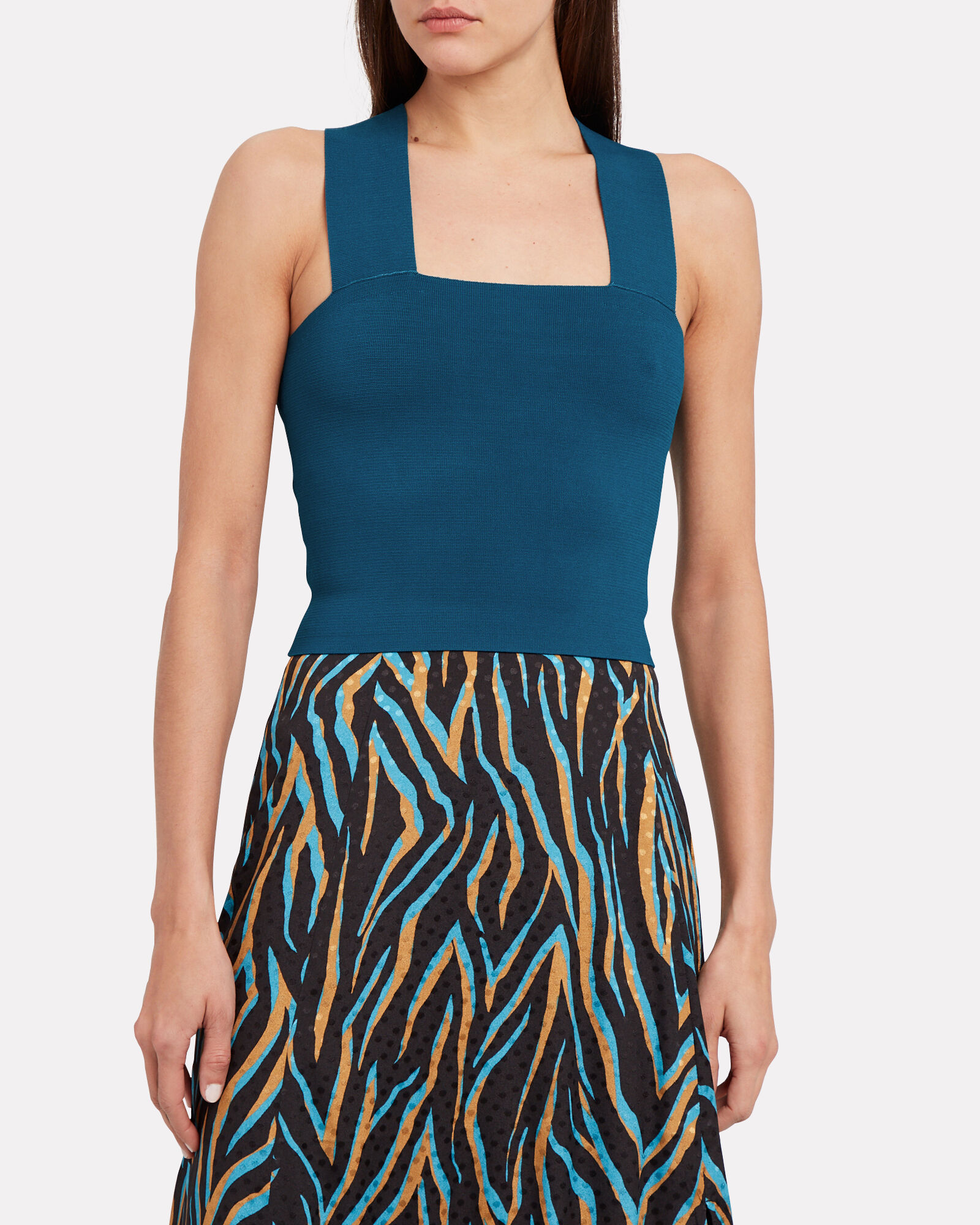 Lia Cropped Tank Top, TURQUOISE, hi-res