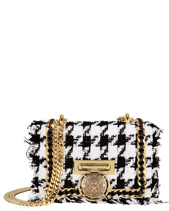 Baby Box Tweed Shoulder Bag, BLK/WHT, hi-res