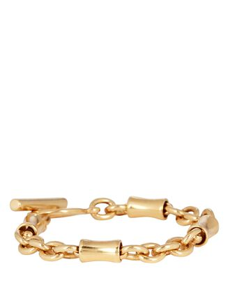 Banana Chain-Link Bracelet, GOLD, hi-res