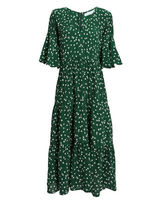 Melia Midi Dress, EVERGREEN/FLORAL, hi-res