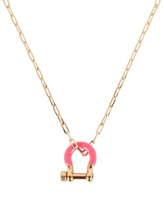 Charlie Carabiner Chain Necklace, GOLD, hi-res