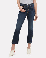 Carolyn Side Vent Jeans, DARK BLUE DENIM, hi-res