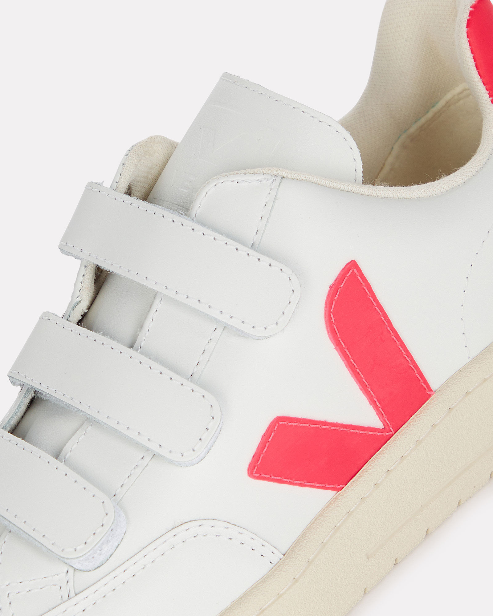 V-lock Velcro Low-Top Sneakers, WHITE/PINK, hi-res