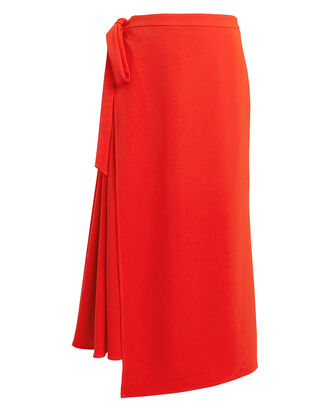 Lady Danger Crepe Wrap Skirt, ORANGE, hi-res