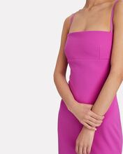 Riley Sleeveless Crepe Gown, PURPLE, hi-res