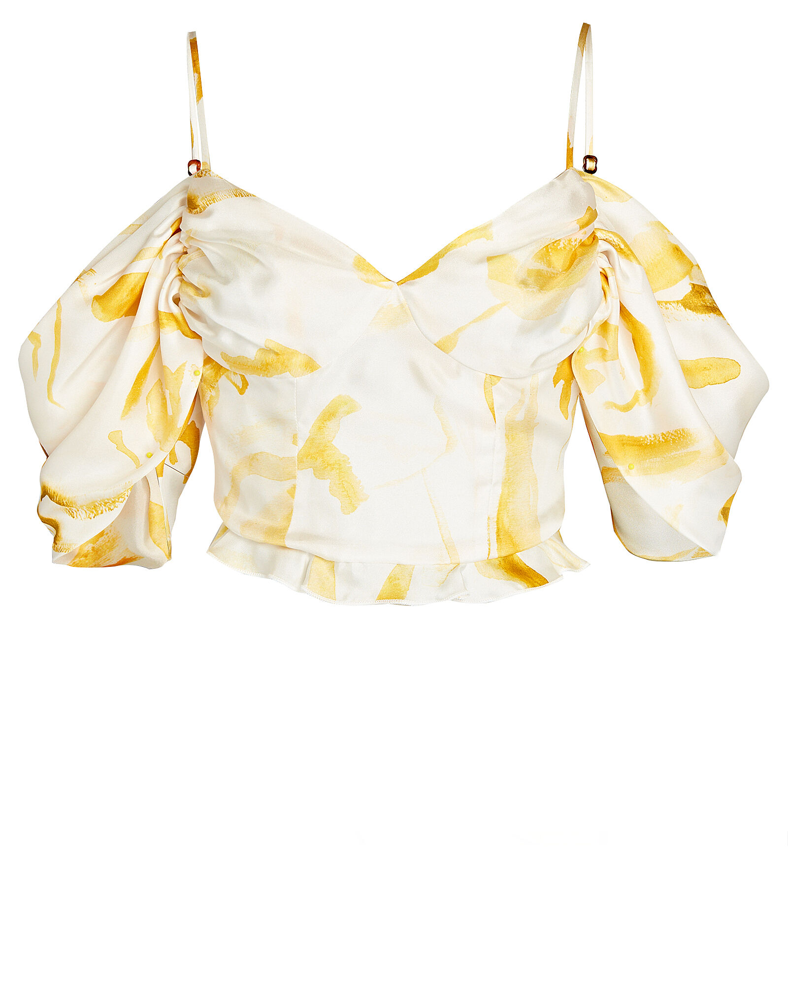 Cristina Silk Cold-Shoulder Top, MULTI, hi-res