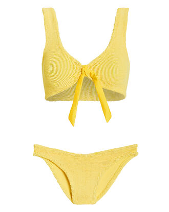 Angela Tie Front Bikini Set, YELLOW, hi-res