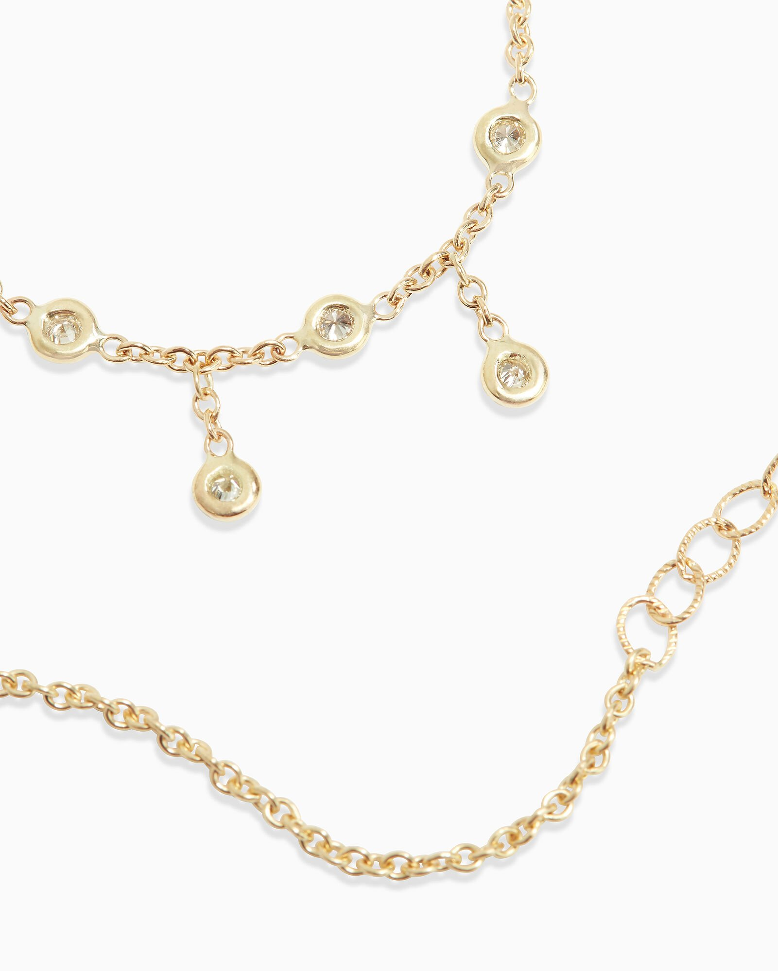 Half Shaker Spaced Out Necklace, GOLD, hi-res