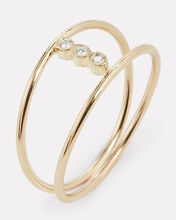 Bezel Diamond Open Ring, GOLD, hi-res