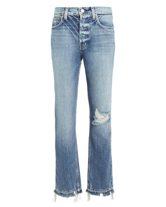 Constance Distressed Jeans, MEDIUM WASH DENIM, hi-res