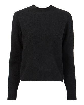 Bouclé Cropped Sweater, BLACK, hi-res