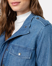 Collins Chambray Military Jacket, DENIM, hi-res