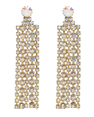 Crystal Fringe Earrings, MULTI, hi-res