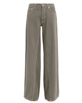 Shiloh High-Rise Wide Leg Jeans, OLIVE/ARMY, hi-res