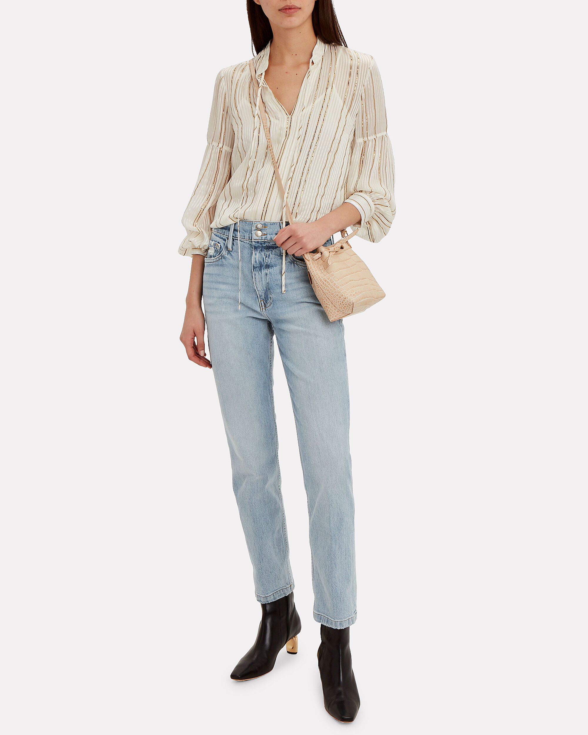 Le Sylvie Jeans, LIGHT BLUE DENIM, hi-res