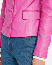 Louisa Leather Jacket, BUBBLEGUM PINK, hi-res