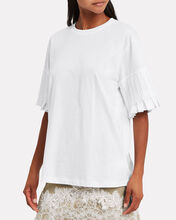 Pleat Sleeve Jersey T-Shirt, WHITE, hi-res