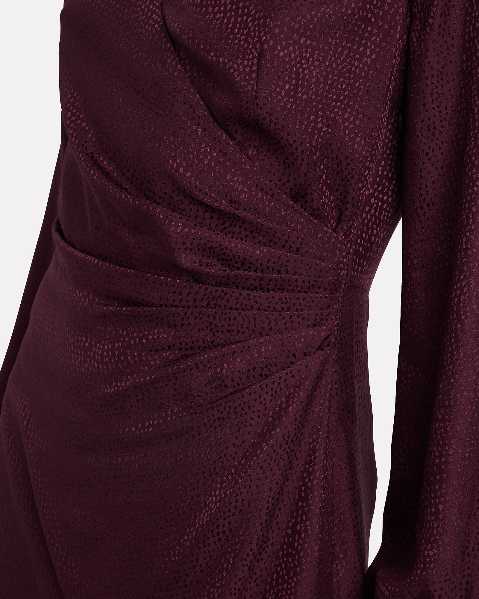 Nadia Jacquard Midi Dress, AUBERGINE, hi-res