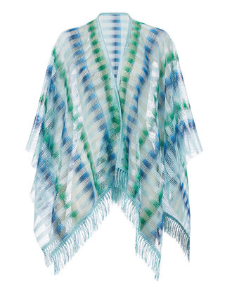Blue Chevron Caftan, BLUE-MED, hi-res