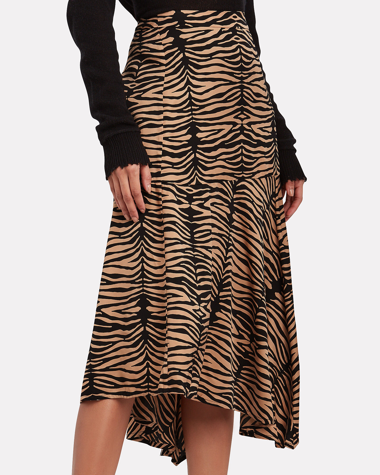Key Asymmetric Zebra Skirt, MULTI, hi-res