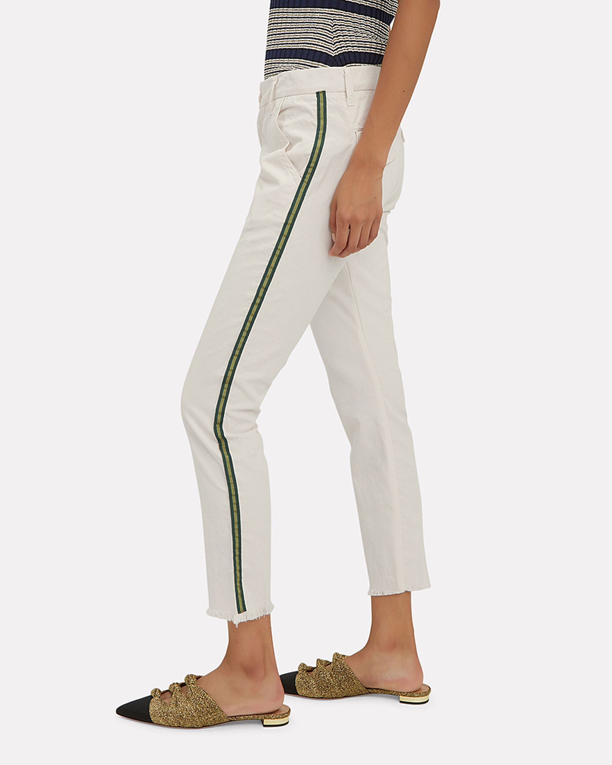 Side Tape Ivory Chino Pants, IVORY, hi-res