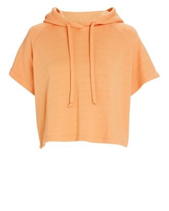 Cropped Slugger Hooded Sweatshirt, PALE ORANGE, hi-res
