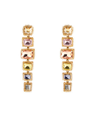 Deepa By Deepa Gurnani Bree Earrings, PASTEL RAINBOW, hi-res