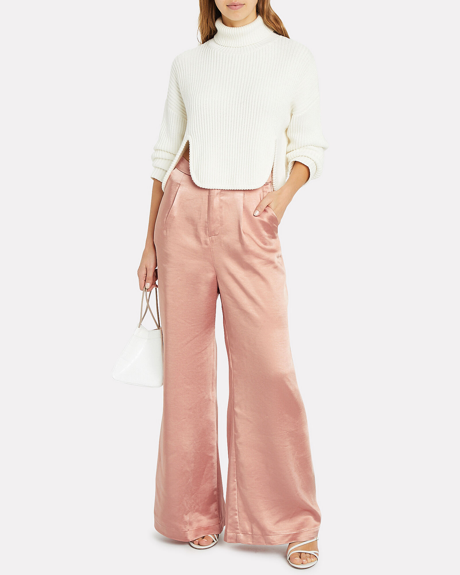 Take The Lead Satin Trousers, PINK, hi-res