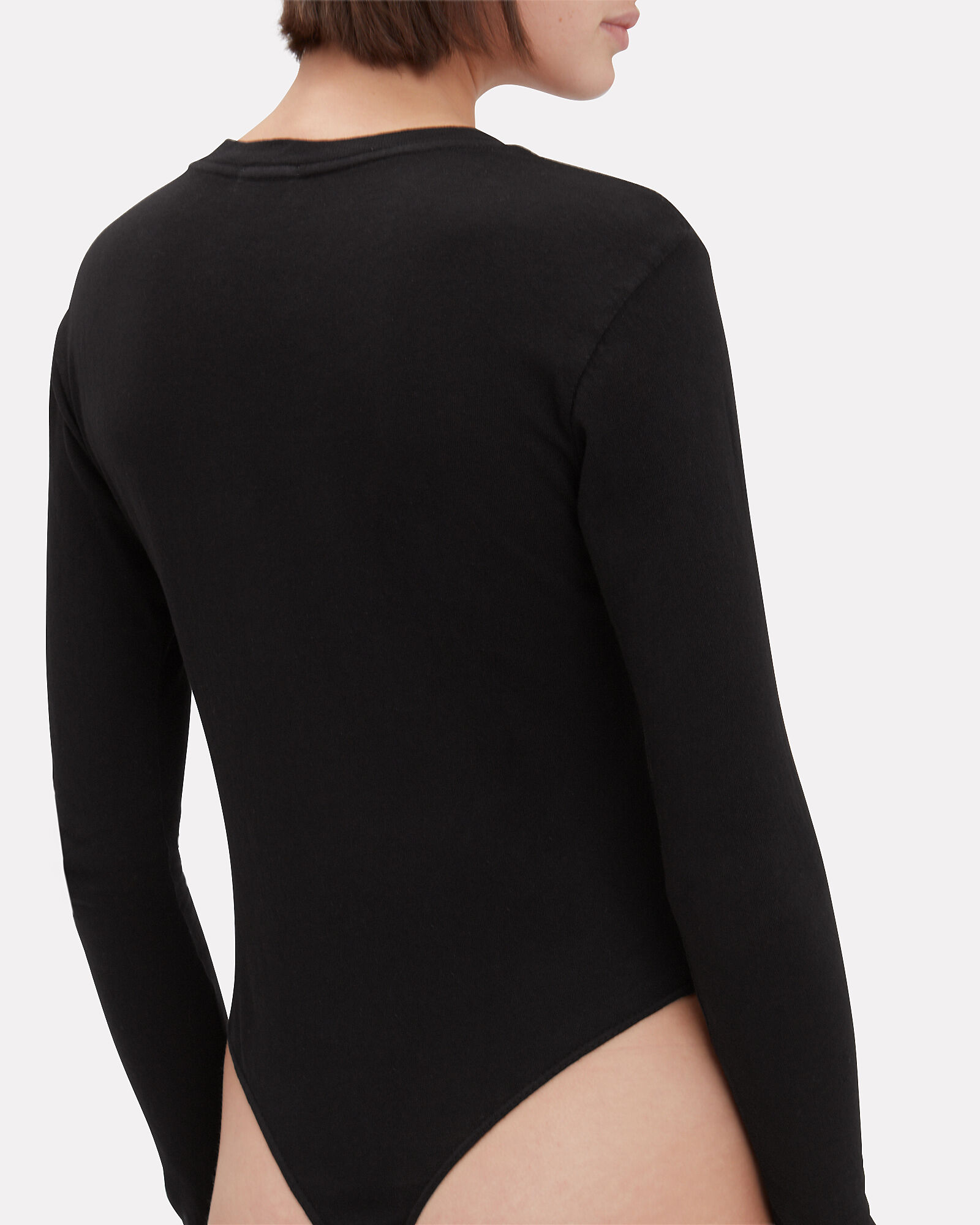 Long Sleeve Bodysuit, BLACK, hi-res