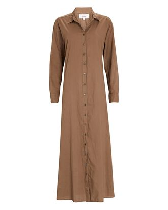 Boden Cotton Midi Shirt Dress, LIGHT BROWN, hi-res