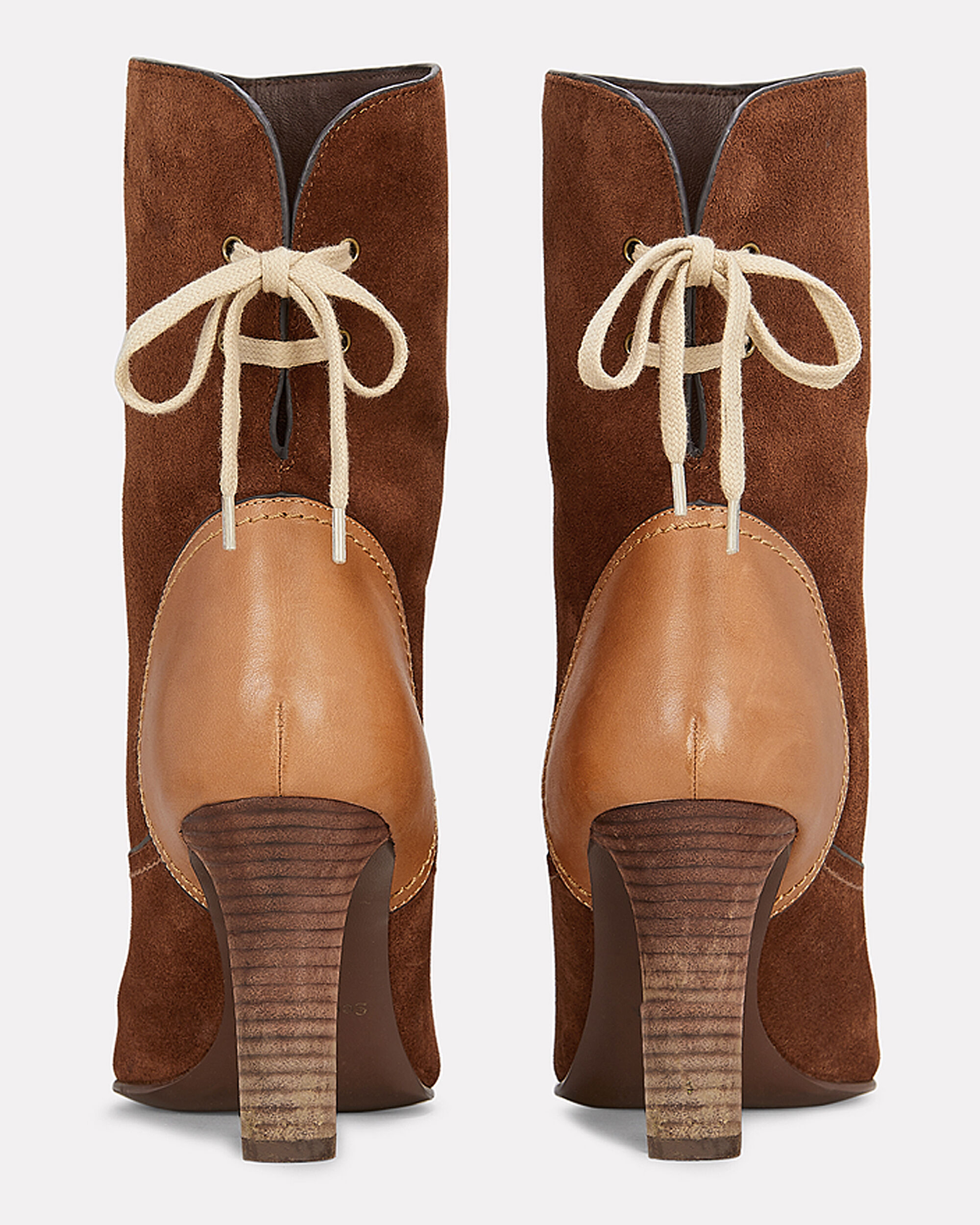 Yvonne Lace-Up Back Suede Boots, BROWN, hi-res
