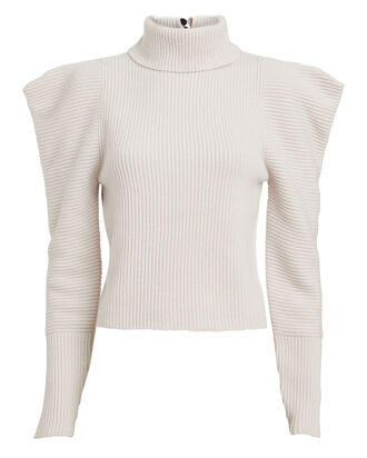 Maura Wool-Cashmere Sweater, WHITE, hi-res