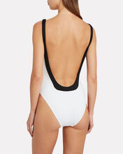 Cecil One-Piece Swimsuit, WHITE, hi-res