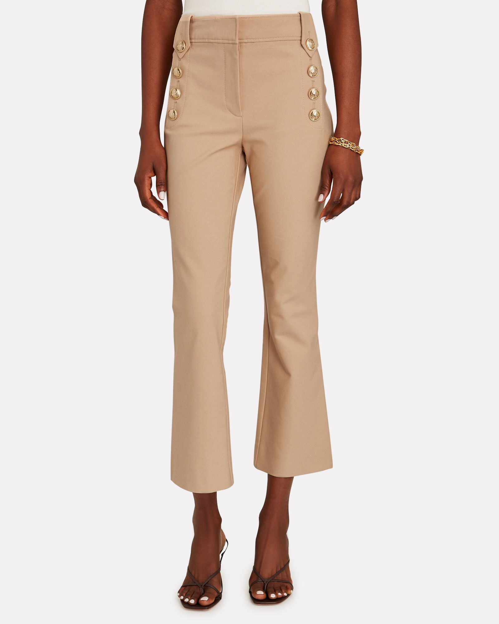 Robertson Sailor Cropped Trousers, BEIGE, hi-res